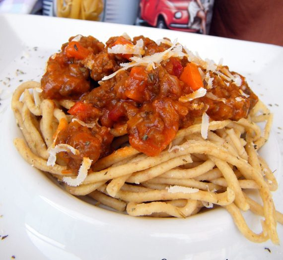 Espaguetis con Boloñesa de Ibérico
